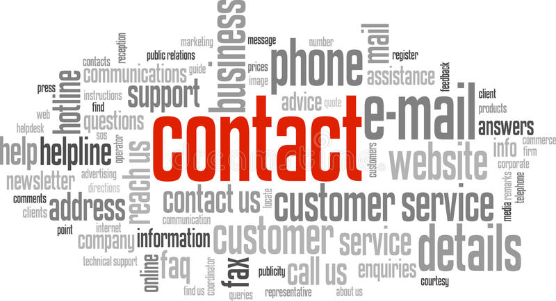 Contact word cloud
