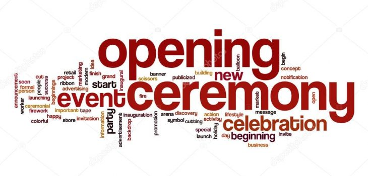 A word cloud focused on Opening Ceremony